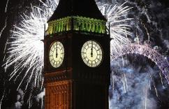 Big ben at Midnight on New Years Eve