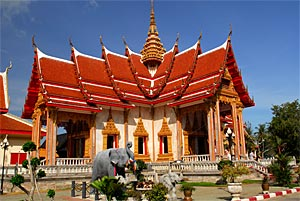 Visit Wat Chalong temple in the South of Phuket Island