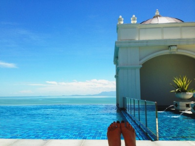 The pool at the Victory annexe at The Eastern and Oriental hotel, Penang