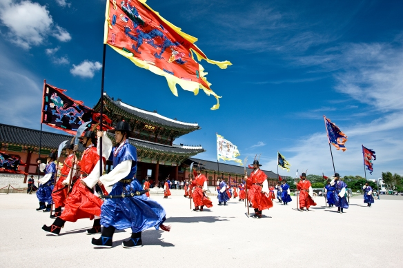 Changing of Guard Parade at Gyeongbokgung!