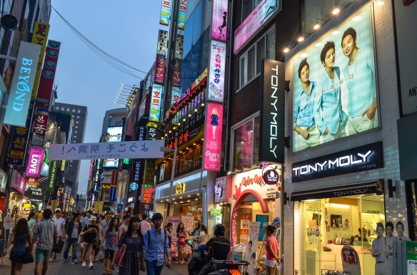 Myeong-dong (read: shopping paradise)