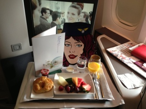 Breakfast on Cathay Pacific Business Class