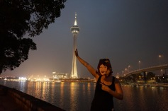 Macau tower at night
