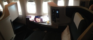 Cathay Pacific Business Class from Singapore to Hong Kong
