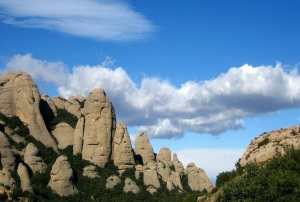 Catalan Pre- Coastal Mountain range of Monserrat Spain