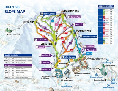 High1 Ski Slope Map