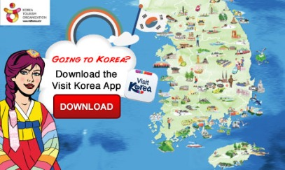Download the visit Korea app for more information on visitng Korea