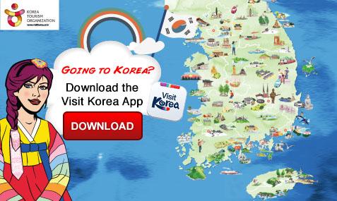 Download the visit Korea app for more information on visitng Korea